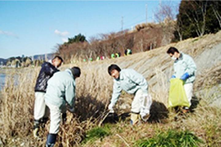長良川、可児川、等 河川清掃活動(市民活動と協働)