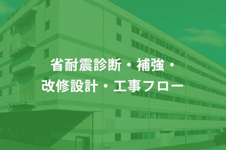 省耐震診断・補強・改修設計・工事フロー